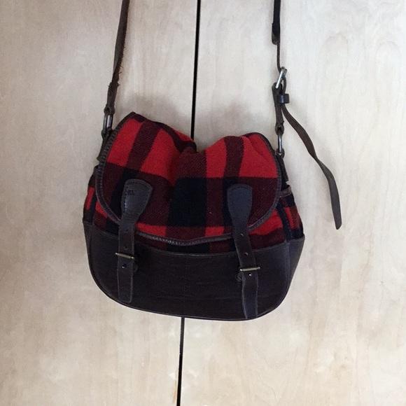 Ralph Lauren lumberjack plaid messenger bag aded61112bdad